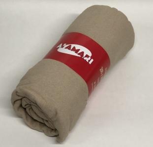 Простынь на резинке с наволочками ТМ Fida Almari махровая kahve