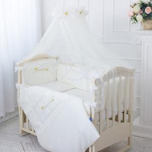 Детский набор из 7 предметов ТМ Маленькая Соня Принцесса молочный