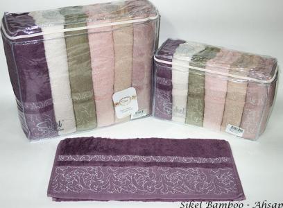 Набор полотенец из 6 штук ТМ Sikel Bamboo Ahsap