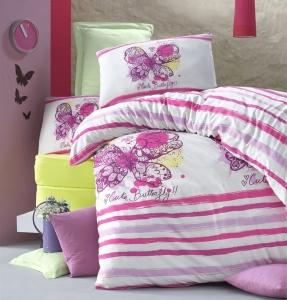 Постельное белье ТМ LightHouse ранфорс Cute butterfly полуторное