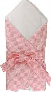 Конверт-одеяло для новорожденных ТМ Руно 957 с бантом розовое