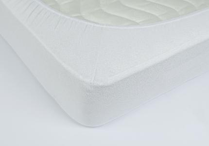 Простынь на резинке махровая ТМ Lotus белая