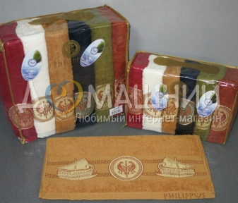 Набор полотенец из хлопка ТМ Philippus Cotton Grek Ship