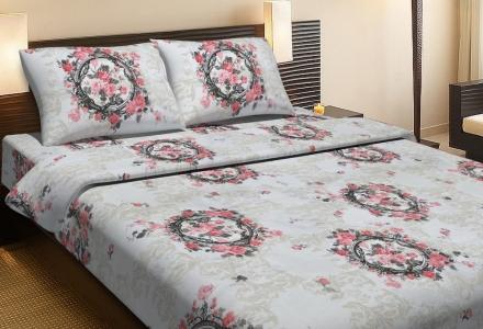 Постельное бельё ранфорс ТМ Lotus Angelique V1 розовое