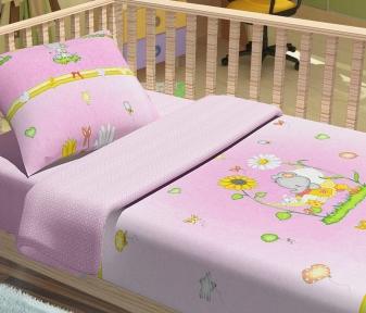 Детский постельный комплект ТМ ТOP Dreams Слоники