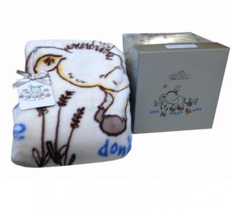 Плед-покрывало ТМ Karaca Home Donkey's World детский 100х120
