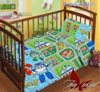 Детский постельный комплект ТМ TAG Robocar Poli