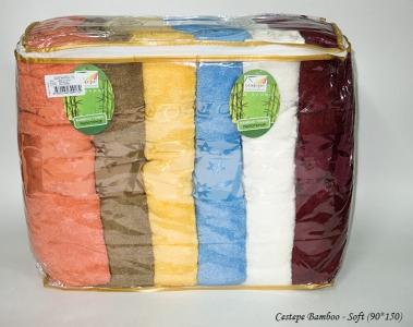 Набор полотенец из 6 штук ТМ Cestepe Bamboo Soft 90х150