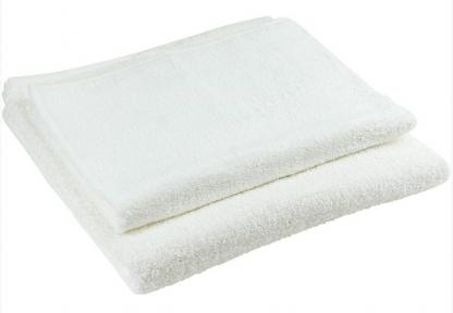 Махровое белое полотенце для гостиниц 70х140 плотность 450 г/м.кв.