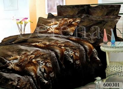 Постельное белье ТМ Selena Лилея поликоттон Тигры 600301
