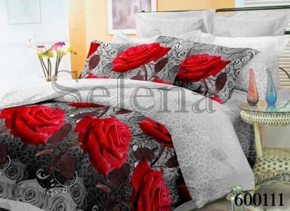Постельное белье ТМ Selena Лилея Люкс Розы Леопардовые 600111