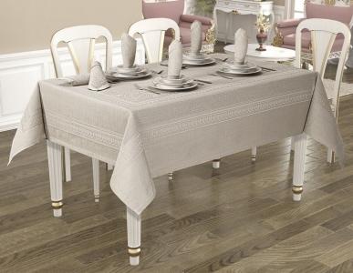 Скатерть ТМ Jackline Pano Linen Grey 9886-5 160х220