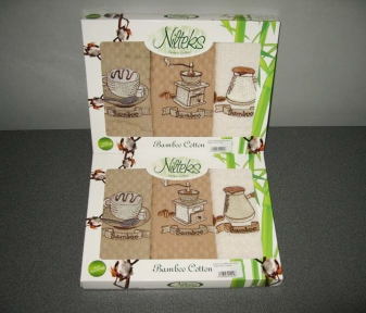 Набор полотенец кухонных ТМ Nilteks Bamboo-Cotton 3шт 40х60см