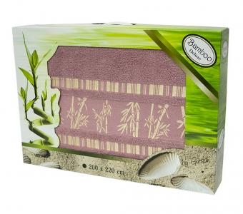 Простынь бамбуковая ТМ Gursan plum 200х220