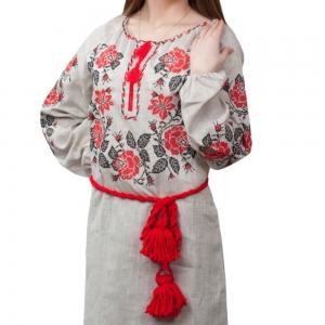 Вышитое платье Роза полтавская 1502