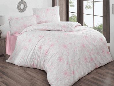 Постельное бельё ранфорс ТМ TAC Brielle 800 V3 Pink евро-размер