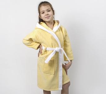 Халат махровый детский ТМ Lotus Зайка новый желтый