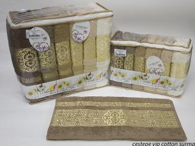 Набор полотенец из 6 штук Cestepe VIP Cotton Surma 50х90