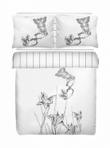 Постельное бельё ТМ Mariposa сатин люкс natura white евро-размер
