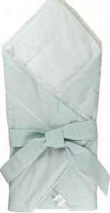 Конверт-одеяло для новорожденных ТМ Руно 957 с бантом голубое