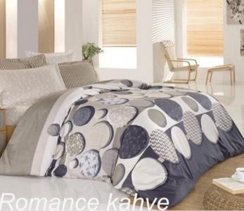 Постельное белье ТМ Altinbasak сатин-люкс Romance Kahve евро-размер