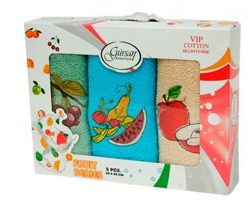 Набор полотенец кухонных 3шт ТМ Gursan фрукты 5 30х50