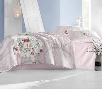 Постельное белье ТМ Arya ранфорс Perlita розовое