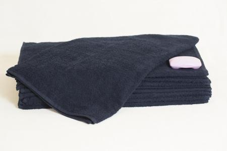 Махровые полотенца ОПТ Узбекистан 400г/м2 размер 50х90см темно-синее