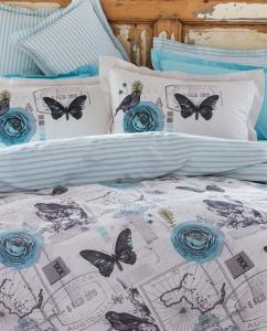 Постельное бельё ТМ Karaca Home ранфорс Birdy синий