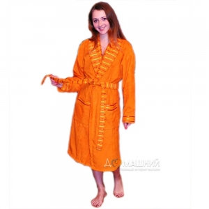 Халат махровый ТМ Mariposa оранжевый женский