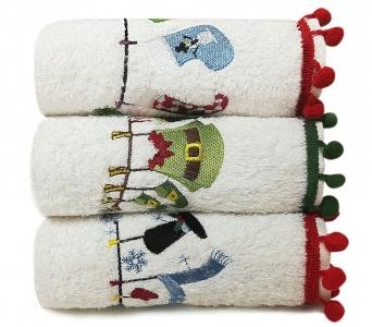 Набор полотенец кухонных 3 шт ТМ Arya Рождество Serene 30X50