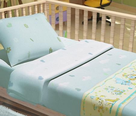 Детский постельный комплект ТМ ТOP Dreams Улыбка голубой