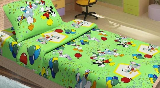 Подростковое постельное бельё ТМ Lotus ранфорс Donald Duck Зеленый