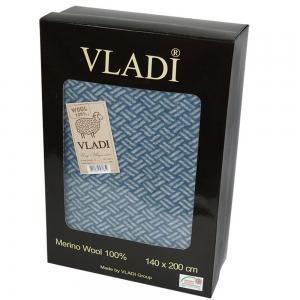 Плед шерстяной ОПТ ТМ Vladi Шарм Лайт 140х200см подарочная коробка