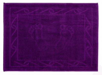 Полотенце для ног ТМ Hobby Hayal фиолетовое 50х70