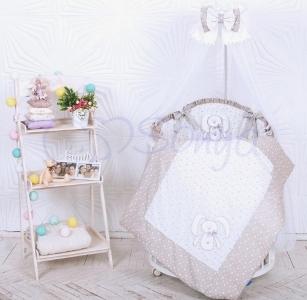 Детский набор из 7 предметов ТМ Маленькая Соня Lucky star серый
