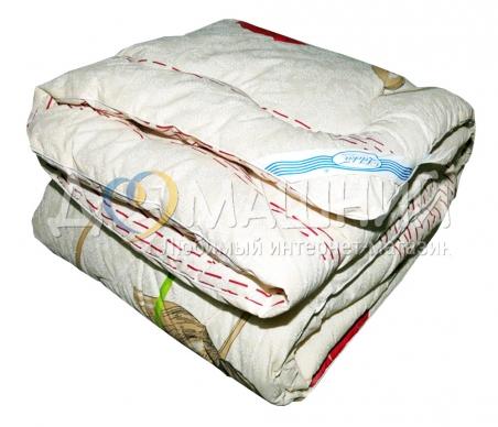 Одеяло стандарт ТМ Leleka-Textile Шерстяное бежевого цвета