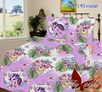 Подростковый постельный комплект ТМ TAG R7191 violet