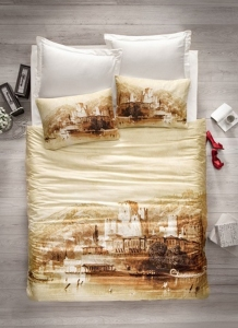 Постельное бельё ТМ Cotton Box Art Series сатин Hisar евро-размер