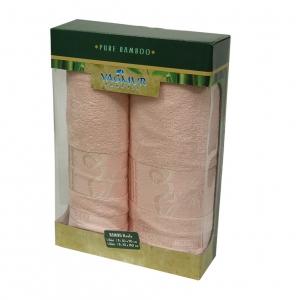 Набор полотенец из 2 штук ТМ Gursan Bamboo salmon