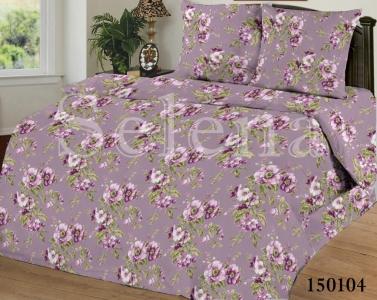 Постельное белье ТМ Selena бязь-light Цветочки Фиолетовые 150104