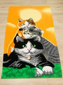 Полотенце велюровое пляжное Турция Cats 75х150 см