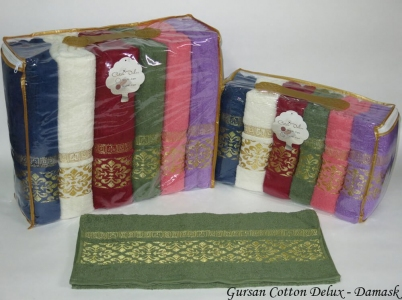 Набор полотенец из 6 штук ТМ Gursan Cotton Damask