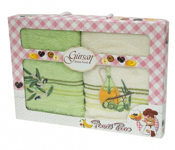 Набор полотенец кухонных 2шт ТМ Gursan Олива 40х60