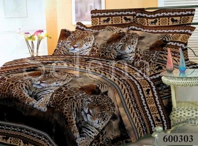Постельное белье ТМ Selena Лилея поликоттон Леопарды 600303