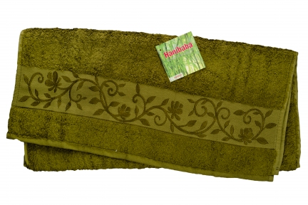Полотенце ТМ Hanibaba Bamboo хаки