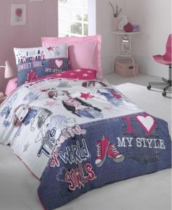 Подростковое постельное белье ТМ Cotton Box ранфорс Fashiongirls Fusya