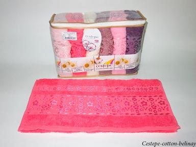 Набор полотенец из 6 штук Cestepe VIP Cotton Belinay
