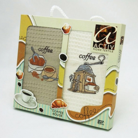 Набор полотенец кухонных Activ Coffee 2шт 50х70см
