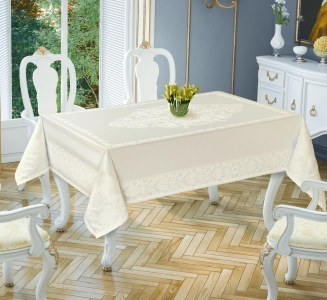 Скатерть ТМ Tropik home Damask Cream 5699-2 150х220